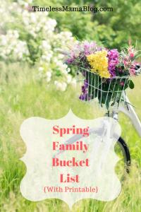 Spring Family Bucket List