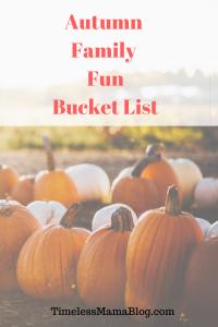 Autumn Family Memories Bucket List