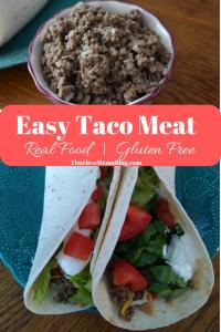 Gluten Free Taco Meat Recipe