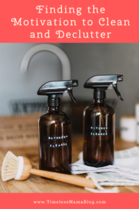 cleaning bottles with brush finding the motivation to clean and declutter